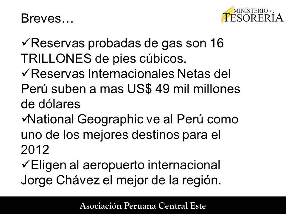 Breves… Reservas probadas de gas son 16 TRILLONES de pies cúbicos.
