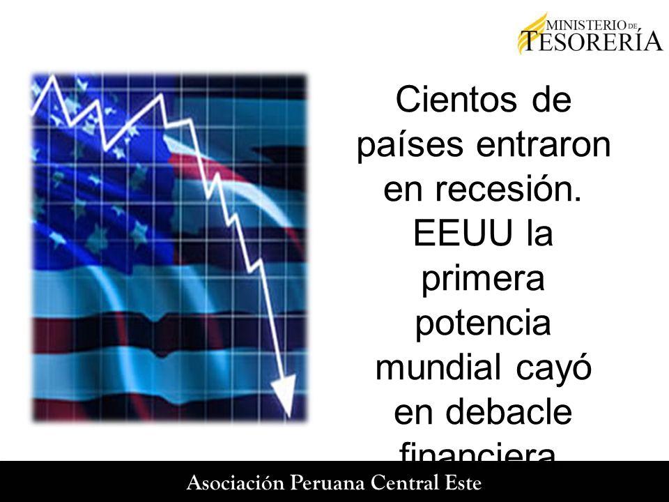 Cientos de países entraron en recesión