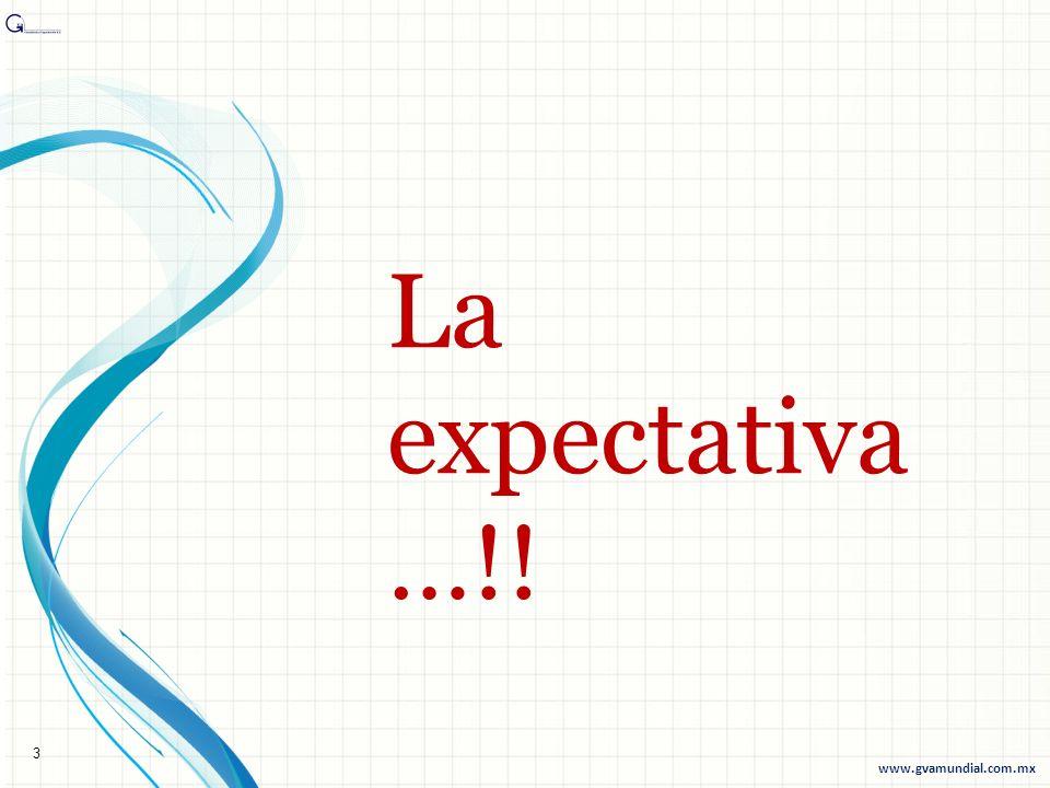 La expectativa …!! 3 www.gvamundial.com.mx