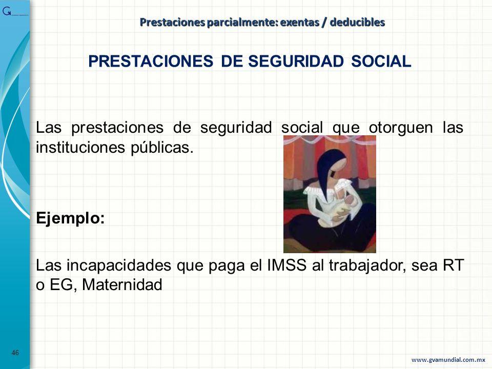 PRESTACIONES DE SEGURIDAD SOCIAL