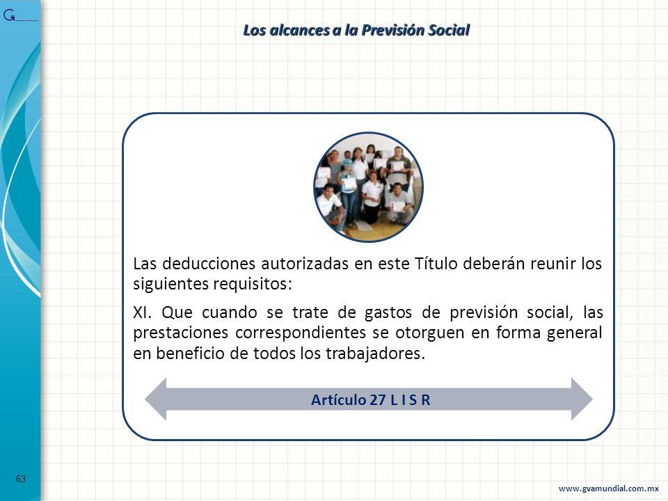 Los alcances a la Previsión Social