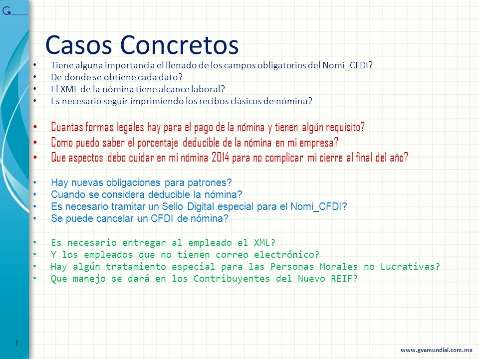 Casos Concretos Tiene alguna importancia el llenado de los campos obligatorios del Nomi_CFDI De donde se obtiene cada dato