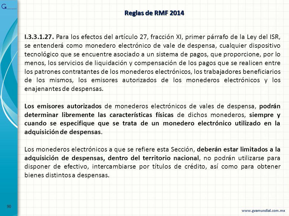Reglas de RMF 2014