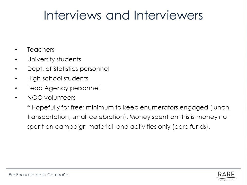 Interviews and Interviewers