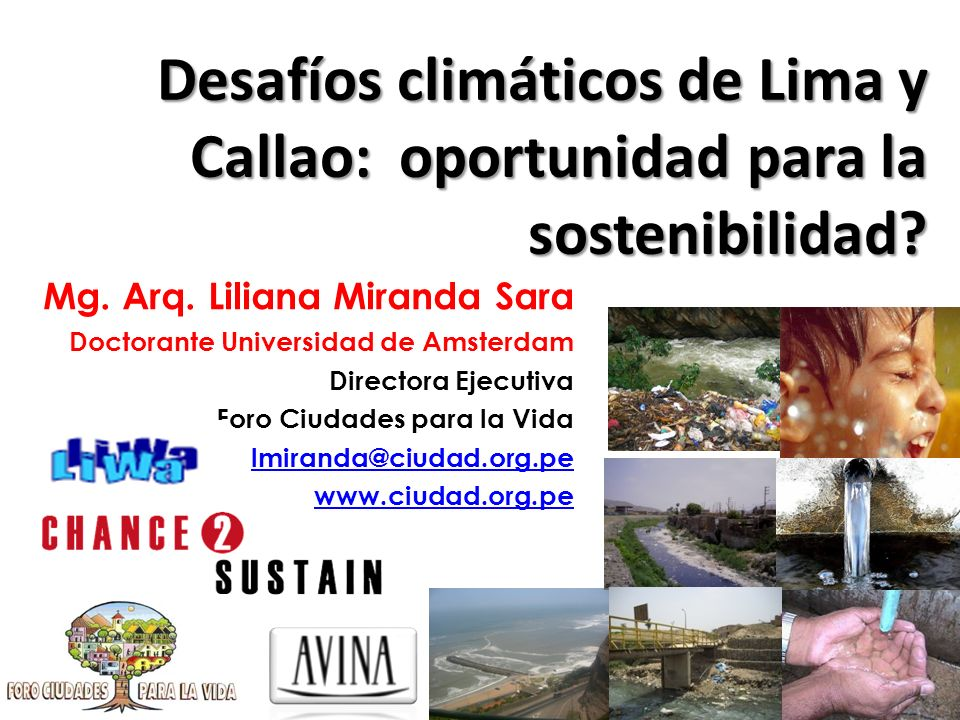 Desafíos climáticos de Lima y Callao: oportunidad para la sostenibilidad