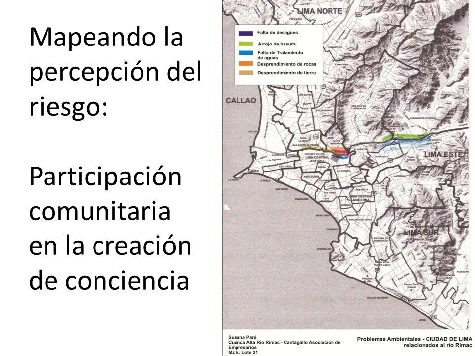 Mapeando la percepción del riesgo: Participación comunitaria en la creación de conciencia