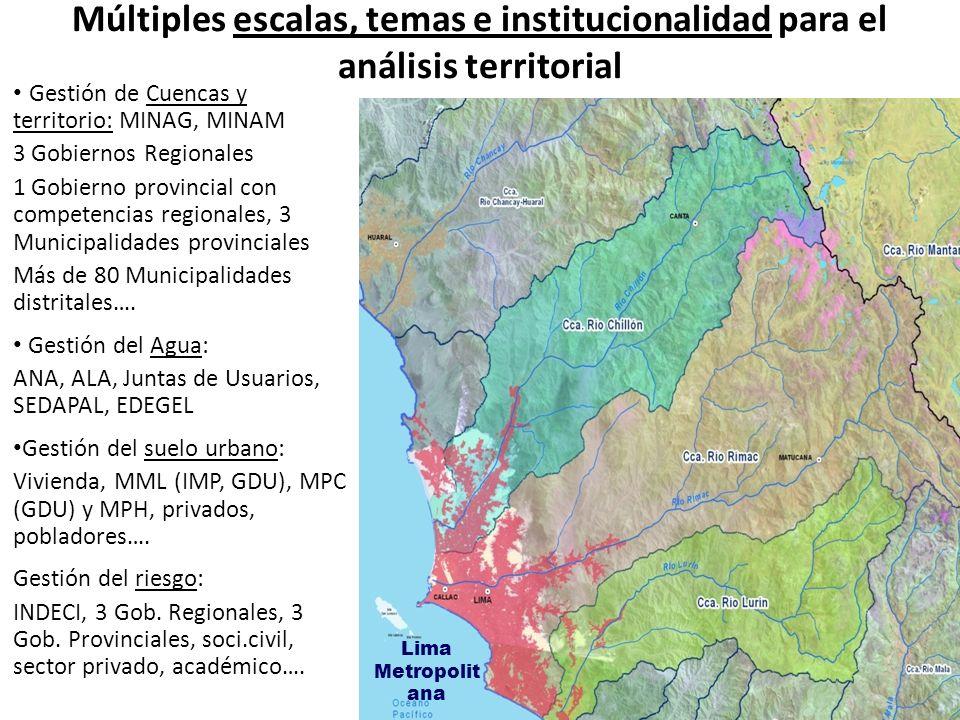 Múltiples escalas, temas e institucionalidad para el análisis territorial