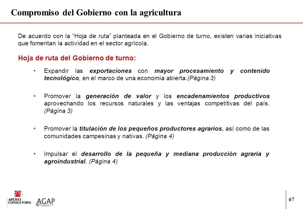 Compromiso del Gobierno con la agricultura