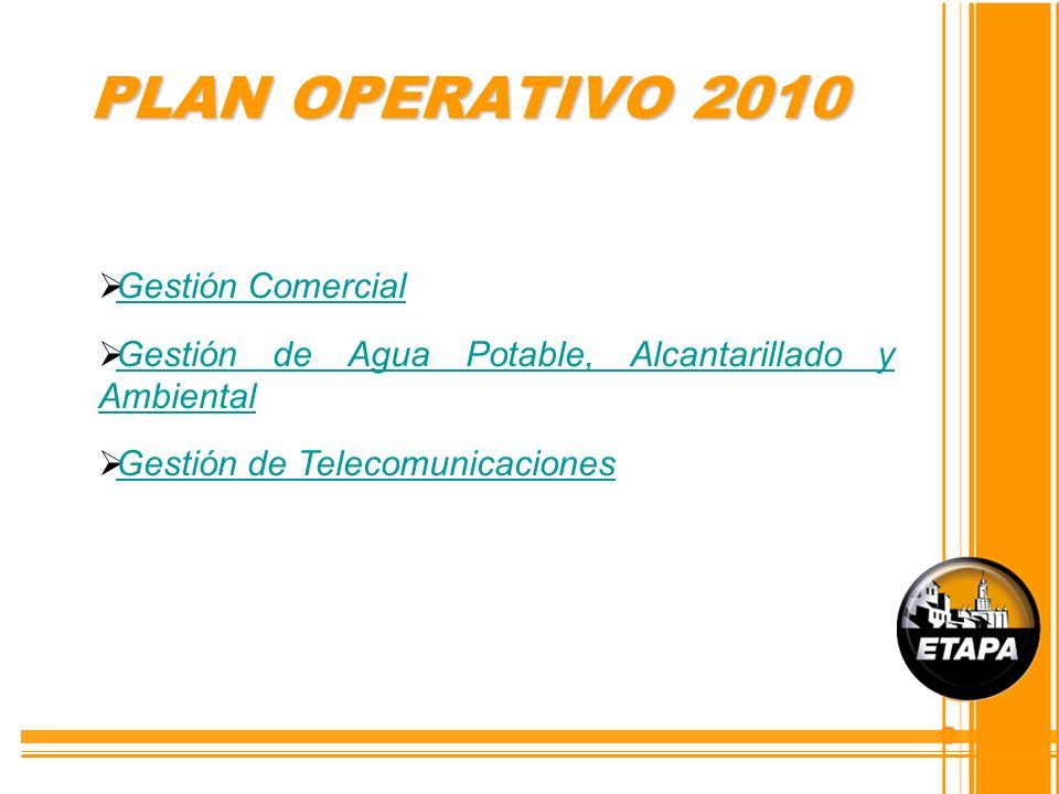 PLAN OPERATIVO 2010 Gestión Comercial