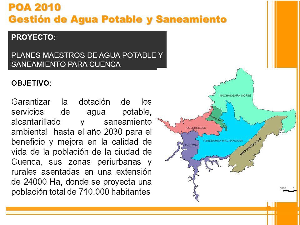 POA 2010 Gestión de Agua Potable y Saneamiento