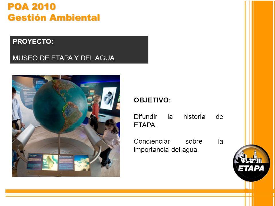 POA 2010 Gestión Ambiental PROYECTO: MUSEO DE ETAPA Y DEL AGUA