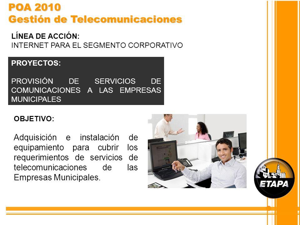 POA 2010 Gestión de Telecomunicaciones