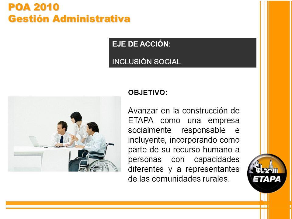 POA 2010 Gestión Administrativa