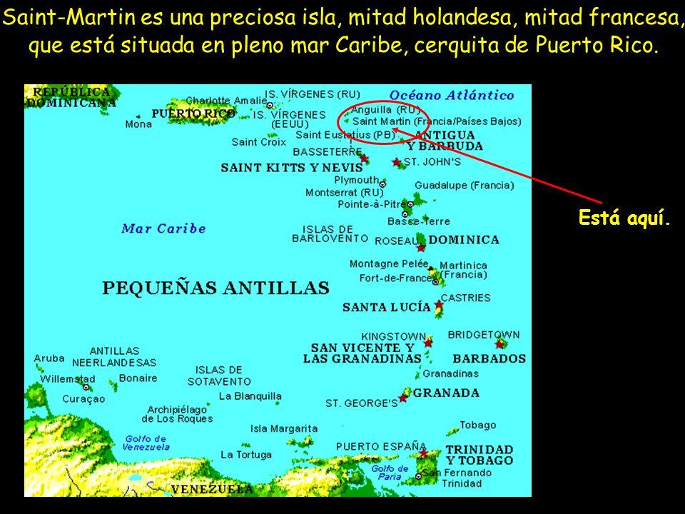 Saint-Martin es una preciosa isla, mitad holandesa, mitad francesa, que está situada en pleno mar Caribe, cerquita de Puerto Rico.