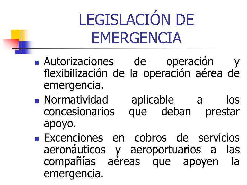 LEGISLACIÓN DE EMERGENCIA