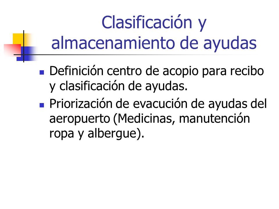 Clasificación y almacenamiento de ayudas