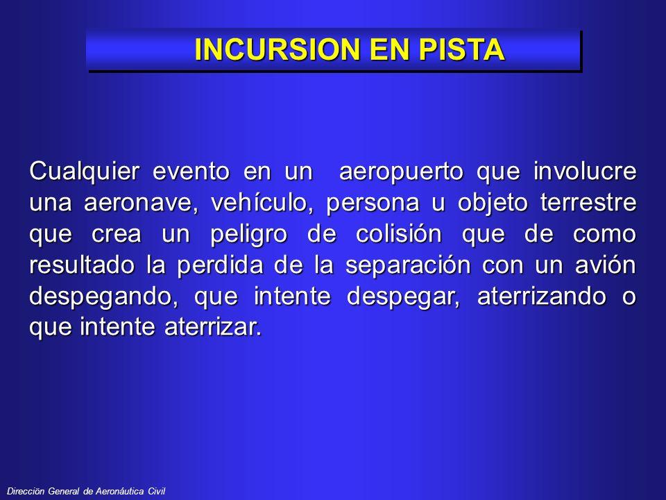 INCURSION EN PISTA