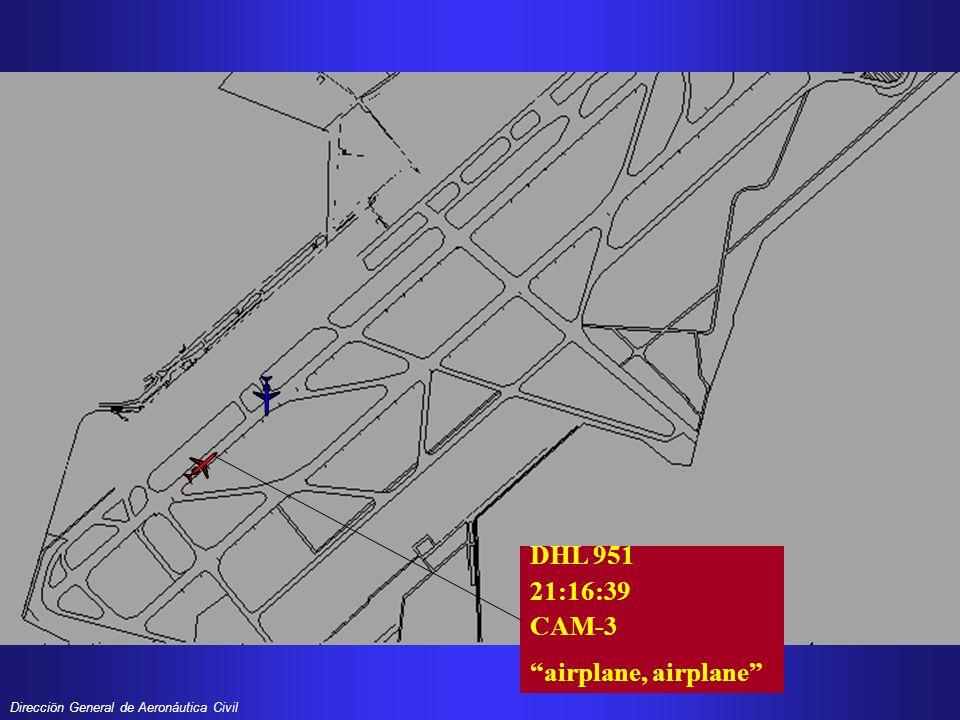 DHL 951 21:16:39 CAM-3 airplane, airplane