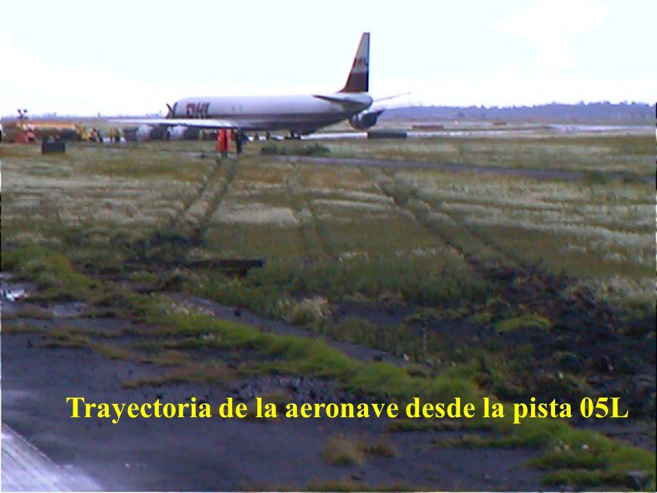 Trayectoria de la aeronave desde la pista 05L
