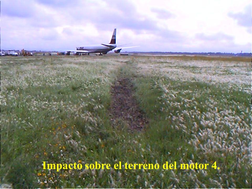 Impacto sobre el terreno del motor 4.