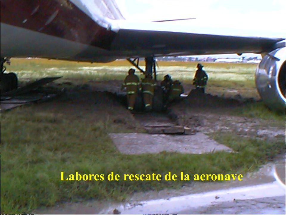 Labores de rescate de la aeronave