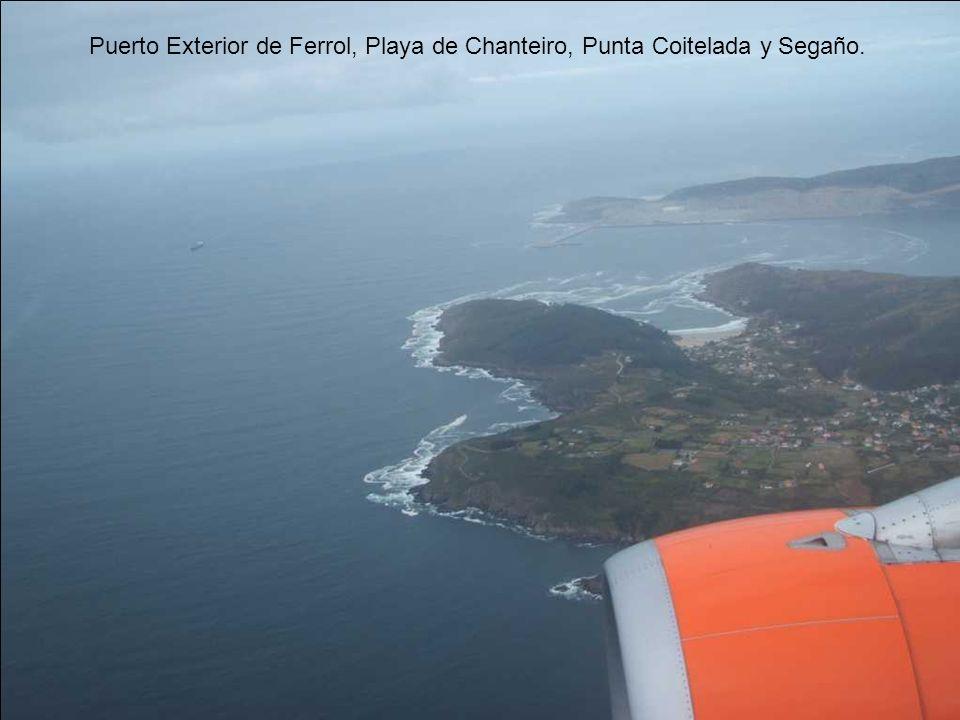 Puerto Exterior de Ferrol, Playa de Chanteiro, Punta Coitelada y Segaño.