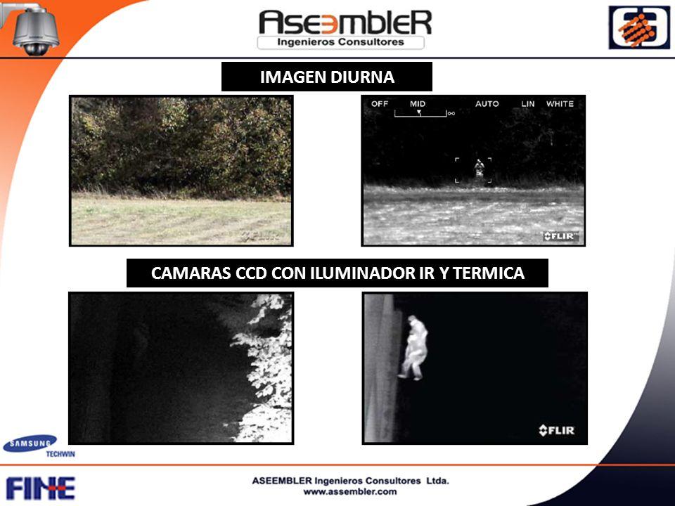 CAMARAS CCD CON ILUMINADOR IR Y TERMICA