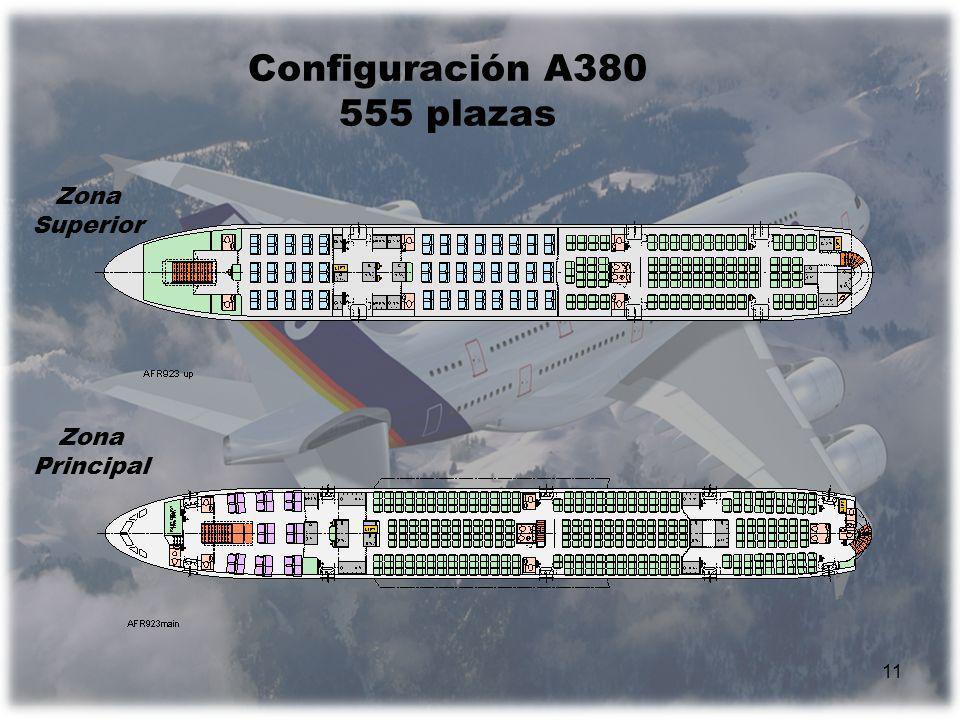 Configuración A380 555 plazas