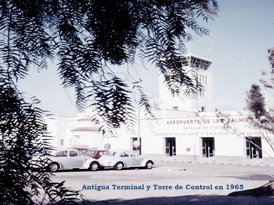 Antigua Terminal y Torre de Control en 1965