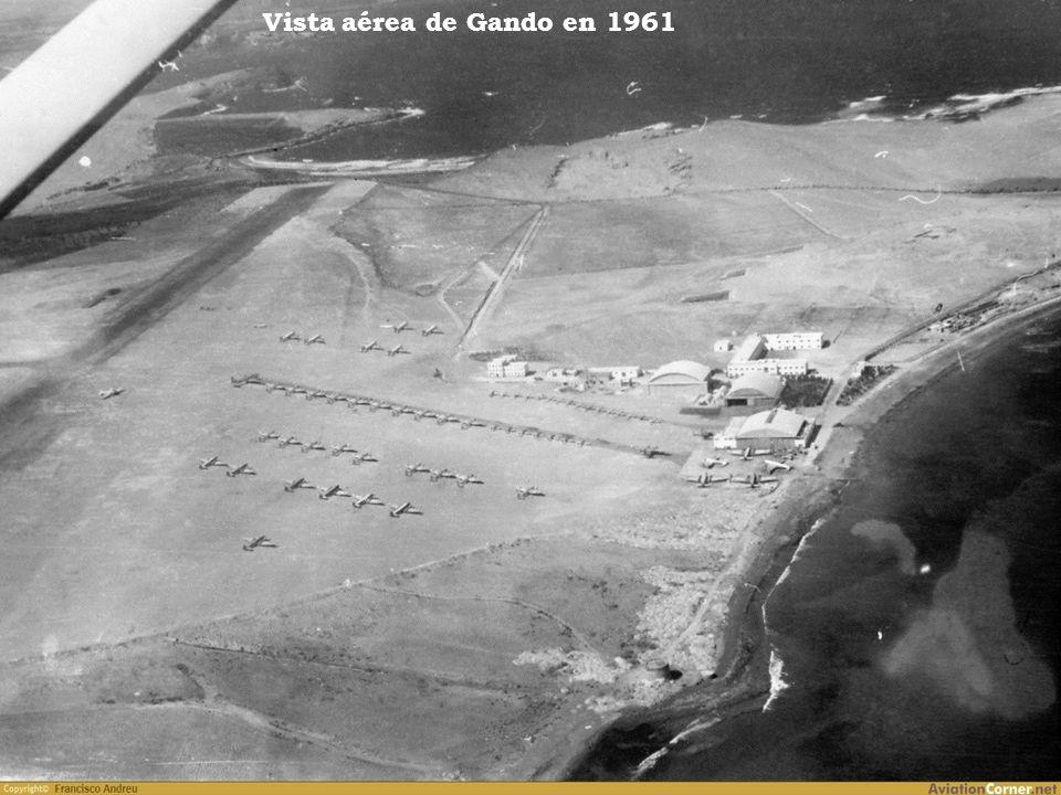 Vista aérea de Gando en 1961