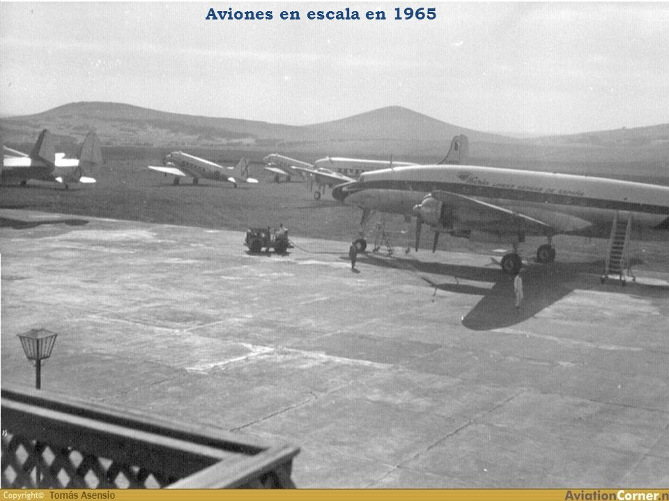 Aviones en escala en 1965