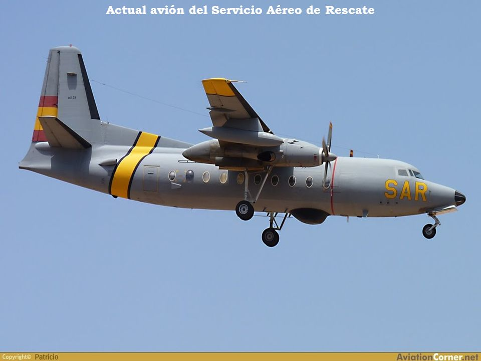 Actual avión del Servicio Aéreo de Rescate