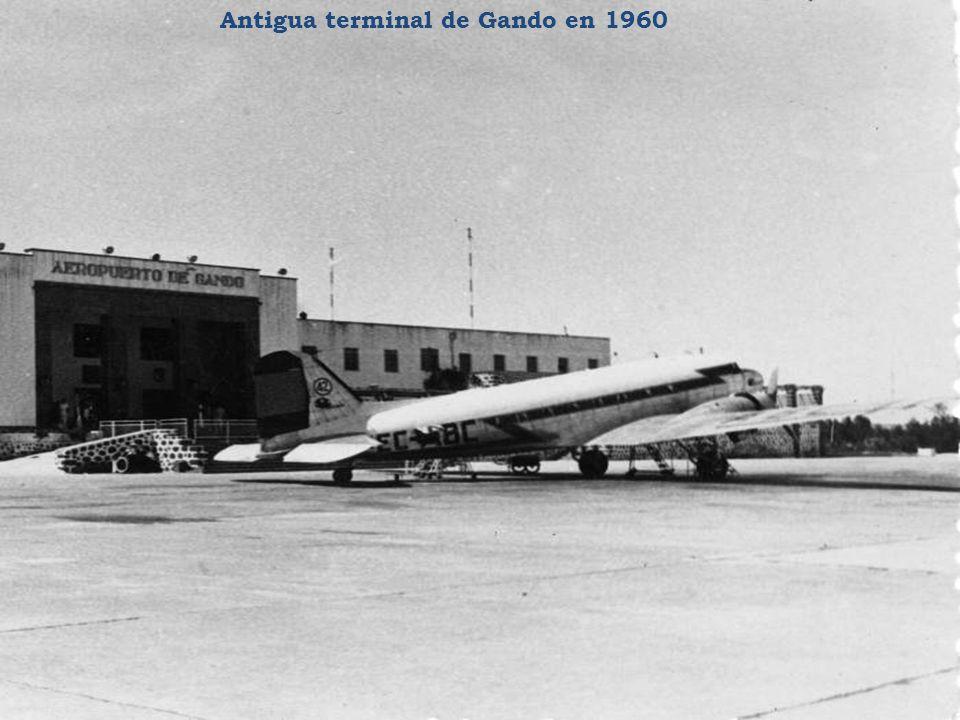 Antigua terminal de Gando en 1960