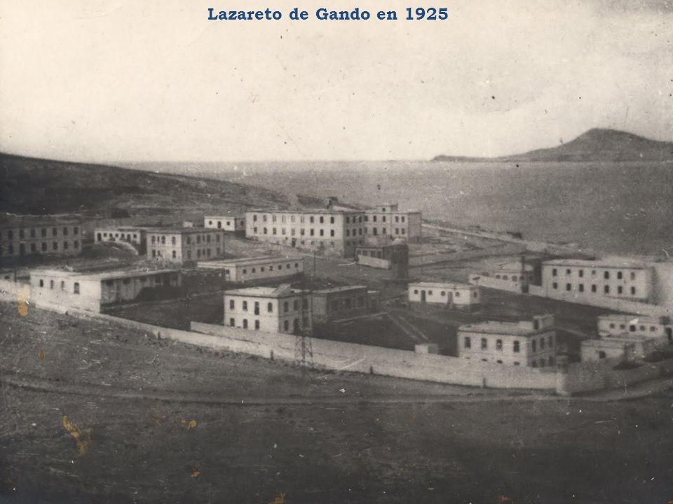 Lazareto de Gando en 1925