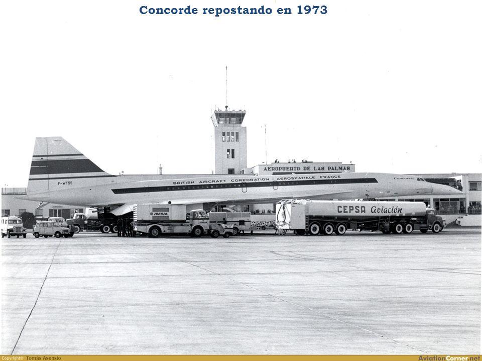Concorde repostando en 1973