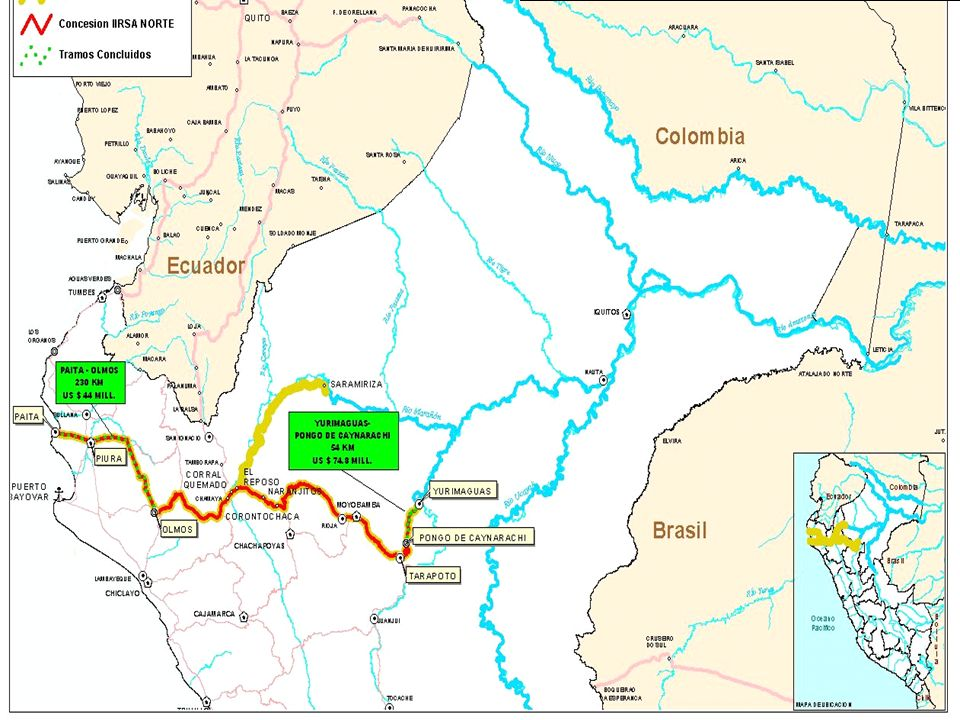 TRAMOS INAUGURADOS DEL EJE DEL AMAZONAS - RAMAL NORTE