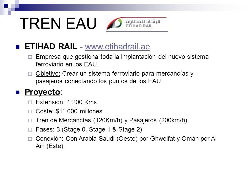 TREN EAU ETIHAD RAIL - www.etihadrail.ae Proyecto: