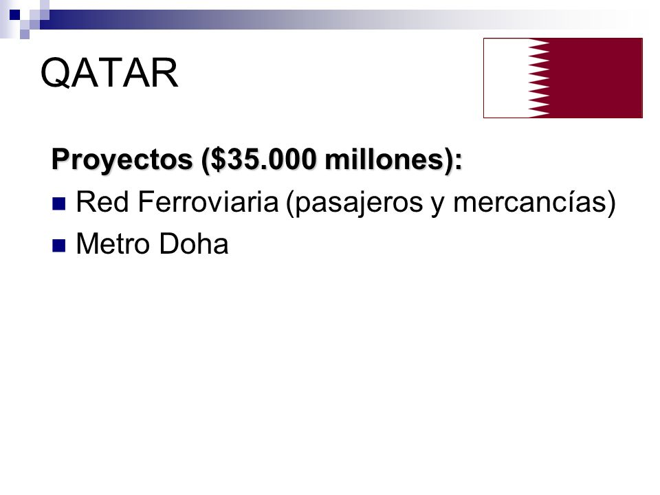 QATAR Proyectos ($35.000 millones):