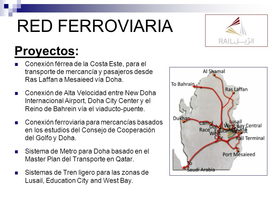 RED FERROVIARIA Proyectos: