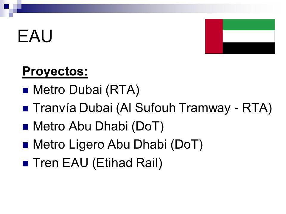 EAU Proyectos: Metro Dubai (RTA)