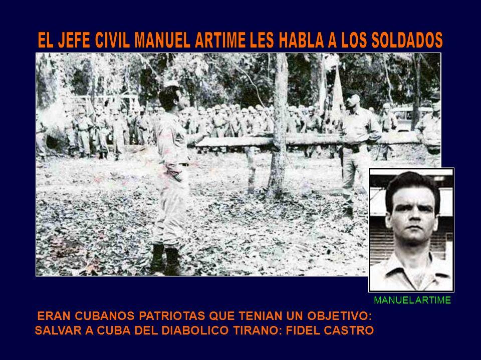 EL JEFE CIVIL MANUEL ARTIME LES HABLA A LOS SOLDADOS