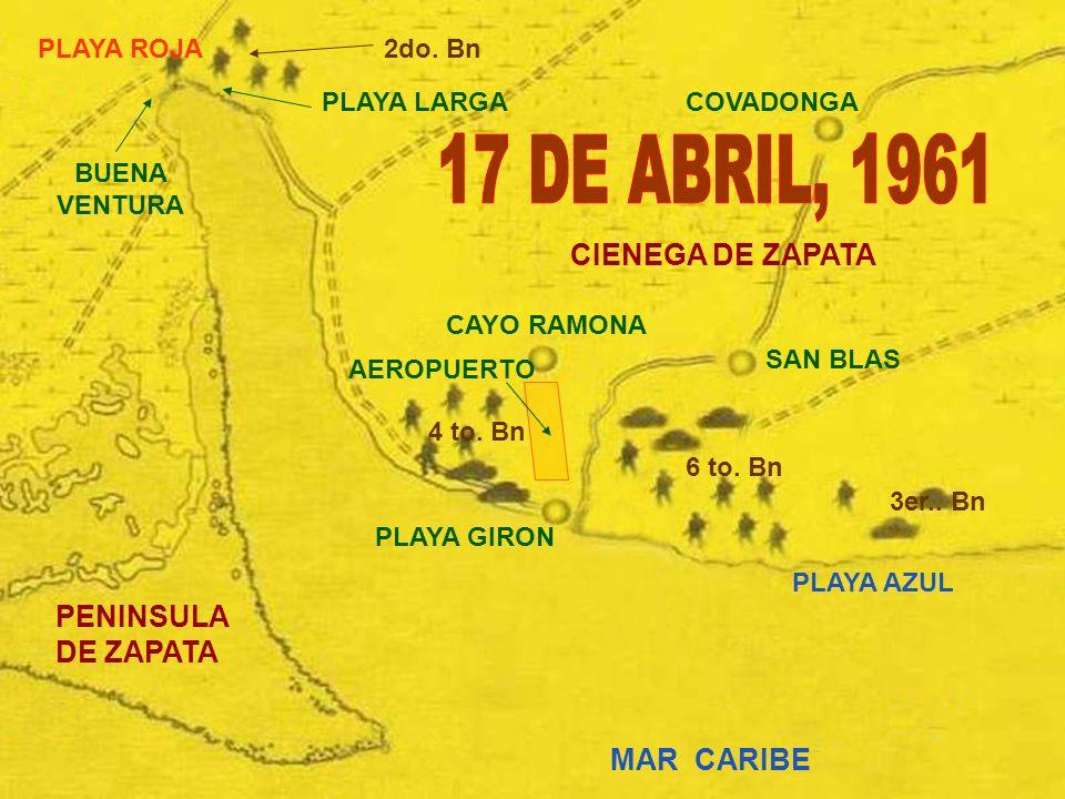 17 DE ABRIL, 1961 CIENEGA DE ZAPATA PENINSULA DE ZAPATA MAR CARIBE