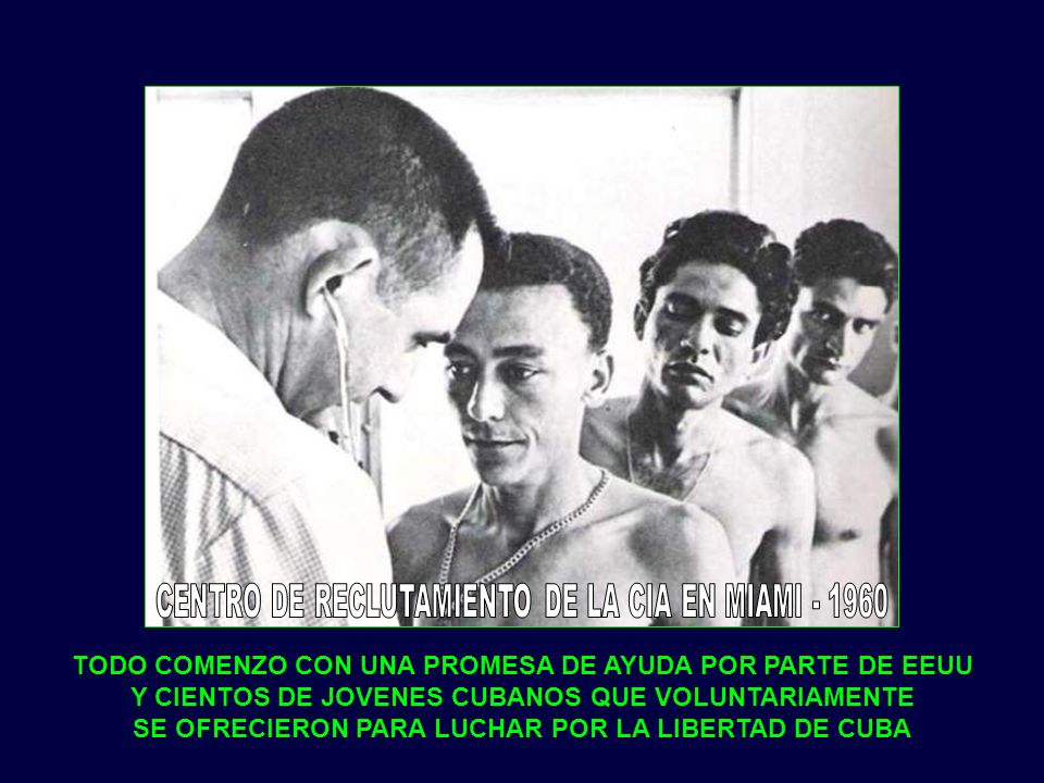CENTRO DE RECLUTAMIENTO DE LA CIA EN MIAMI - 1960
