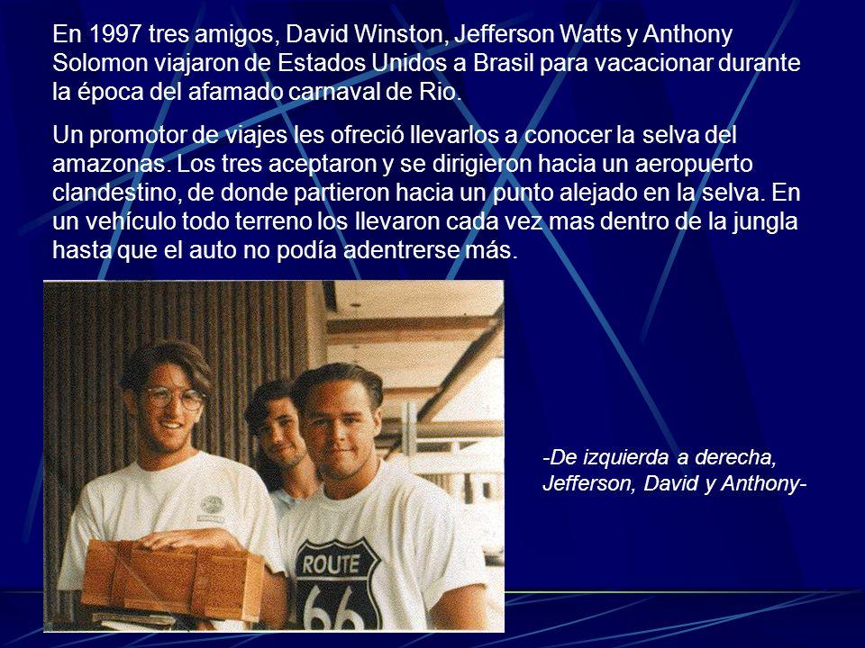 En 1997 tres amigos, David Winston, Jefferson Watts y Anthony Solomon viajaron de Estados Unidos a Brasil para vacacionar durante la época del afamado carnaval de Rio.