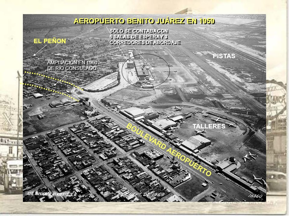 AEROPUERTO BENITO JUÁREZ EN 1959
