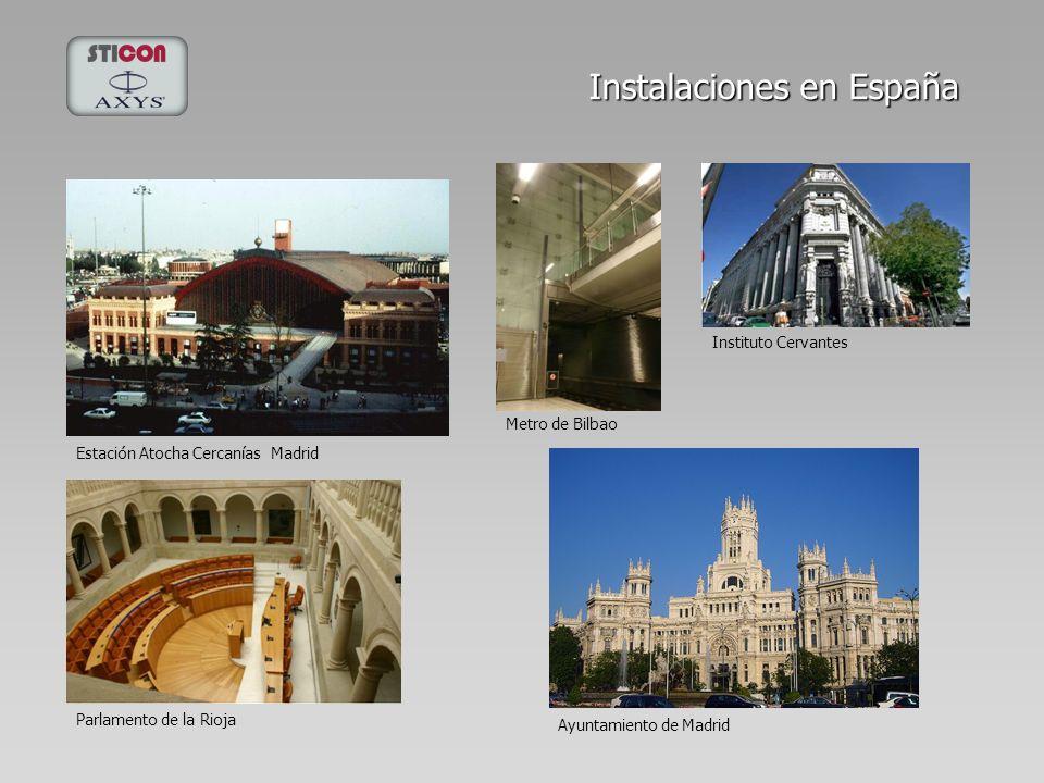 Instalaciones en España