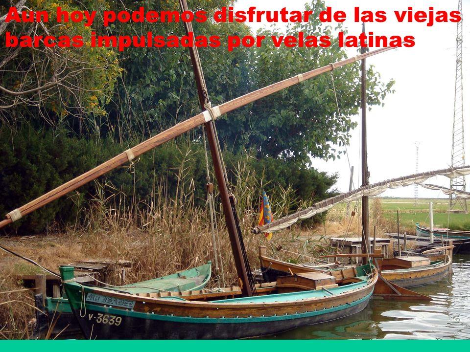 Aun hoy podemos disfrutar de las viejas barcas impulsadas por velas latinas