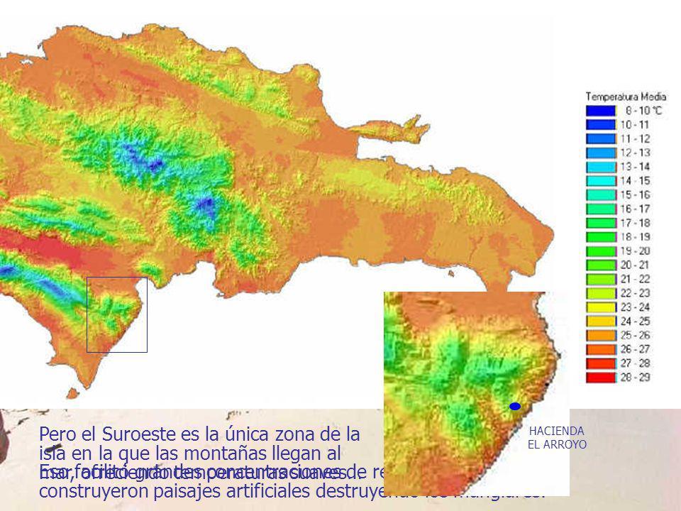 Pero el Suroeste es la única zona de la isla en la que las montañas llegan al mar, ofreciendo temperaturas suaves…