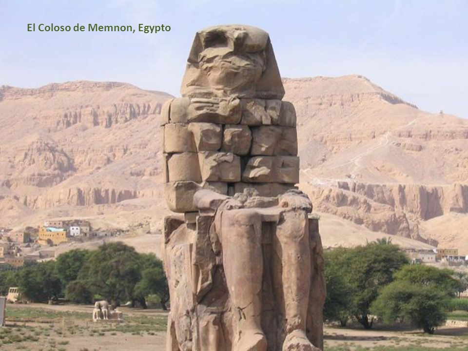 El Coloso de Memnon, Egypto
