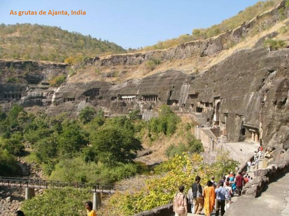 As grutas de Ajanta, India
